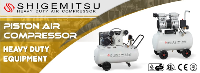 Banner Shigemitsu Piston Air Compressor Gasoline Engine