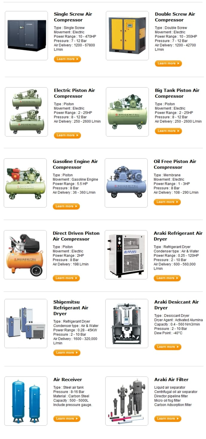 Banner List Product Compressor Artikel