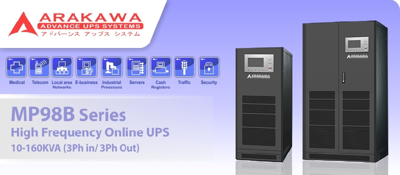 Banner Parrent Product Arakawa UPS MP98B 10-160KVA