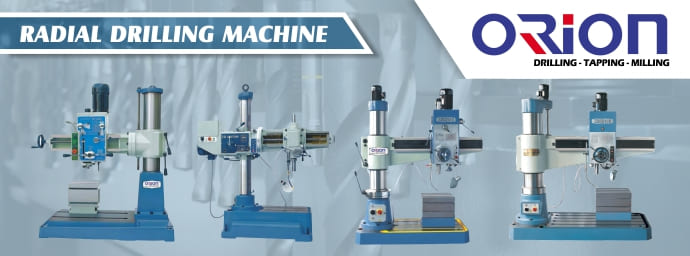 Banner Parrent Product Orion Radial Drilling Machine