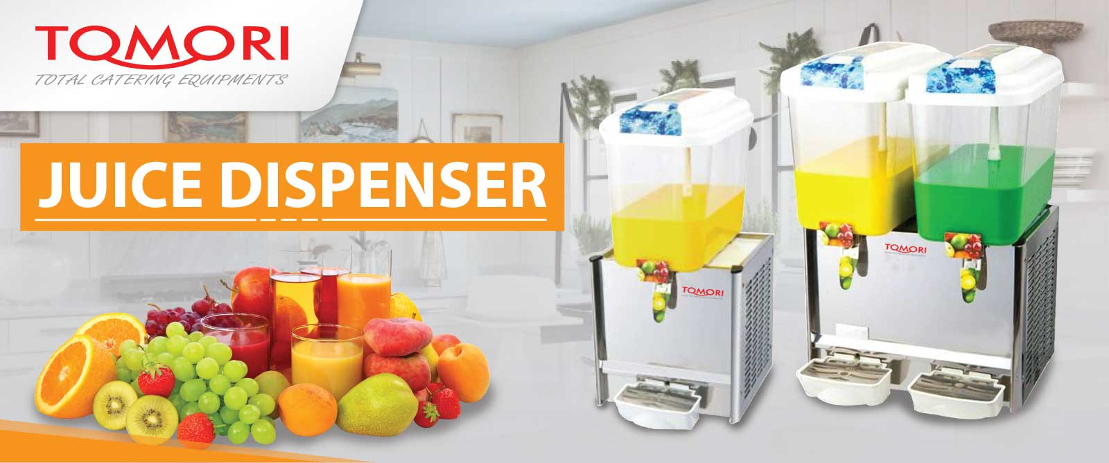 Banner Tomori Juice Dispenser Machine