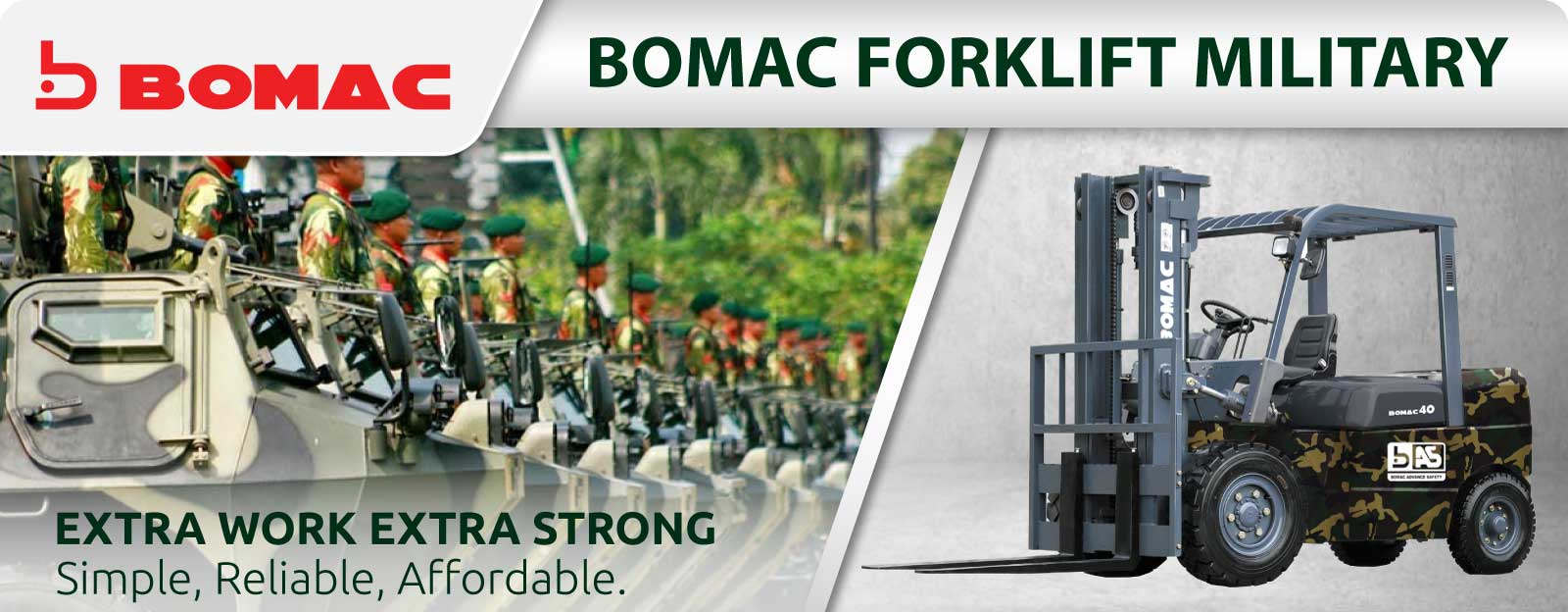 Bomac Forklift Banner Product