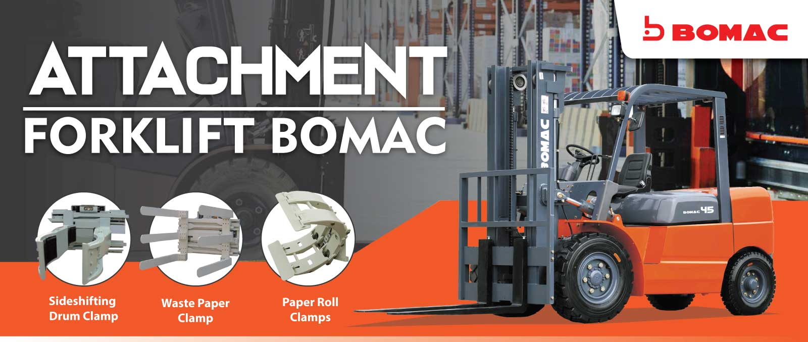 Banner Attachment Forklift Bomac