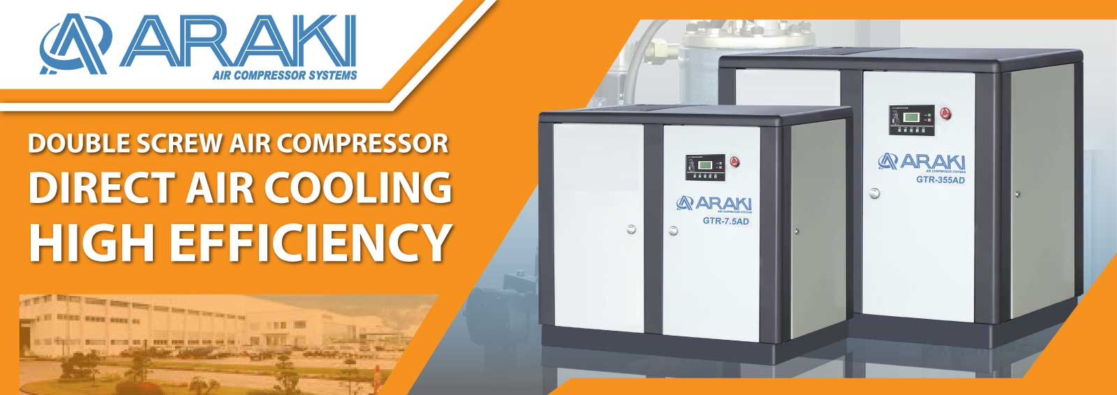 Shigemitsu Belt Air Cooling Double Screw Compressor