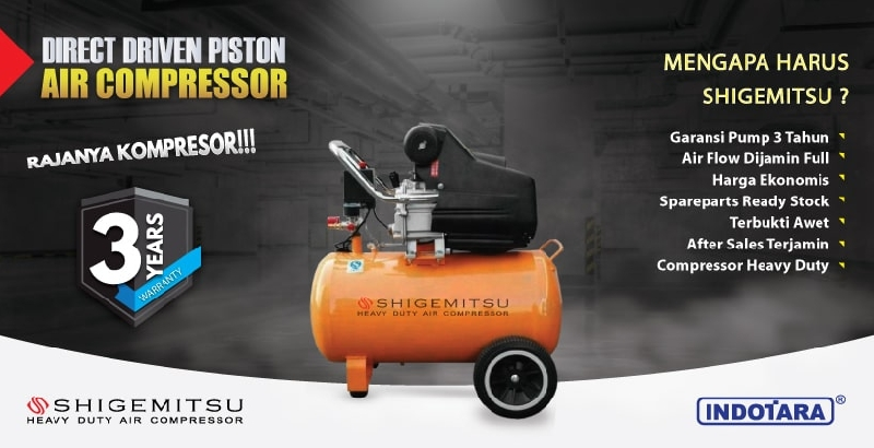 Garansi 3 Tahun Shigemitshu Direct Driven Piston Air Compressor