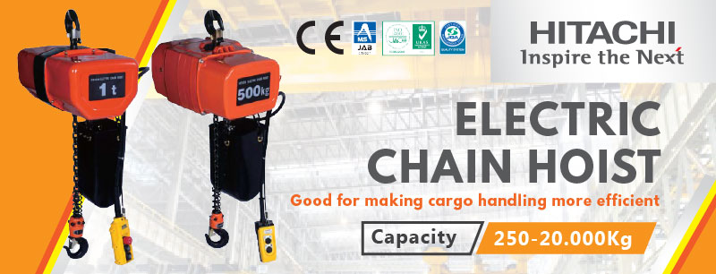 Jual Hitachi Hoist Murah, Jual Electric Chain Hoist, Jual Wire Rope Hoist