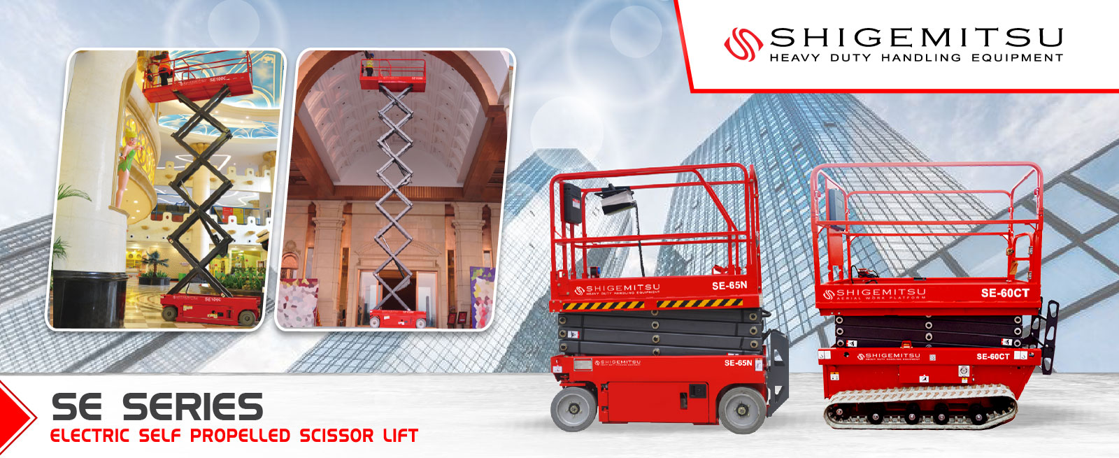 Shigemitsu Electric Self-Propelled Scissor Lift