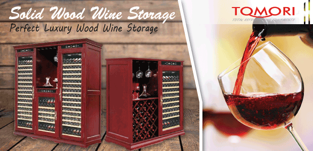 Tomori Solid Wood Wine Storage