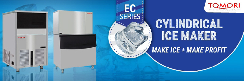 Tomori Cylindrical Ice Machine Banner