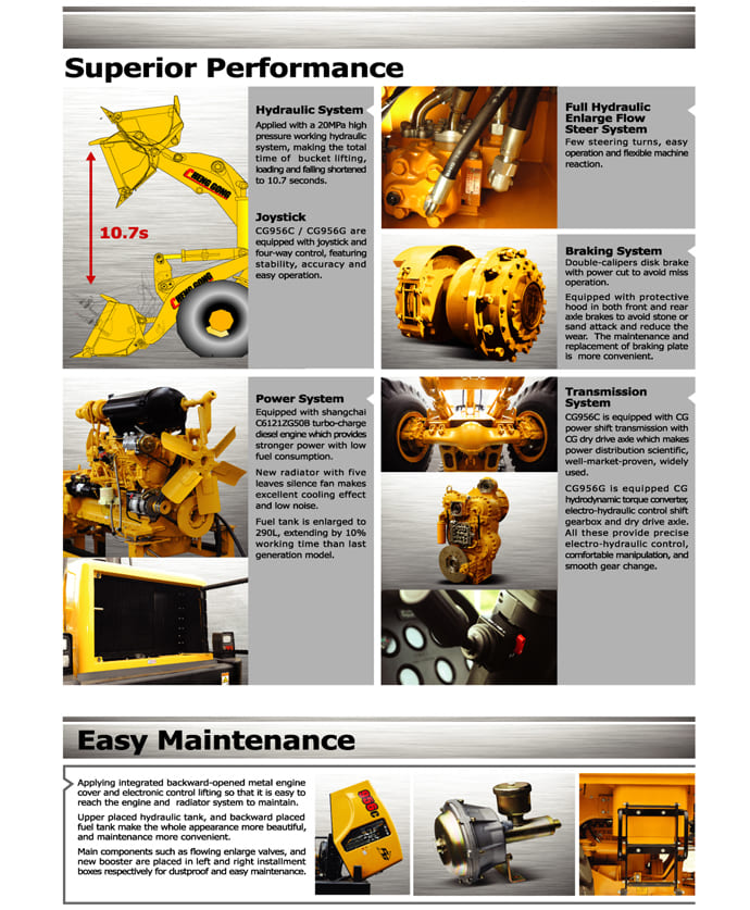 CG Wheel Loader Spec