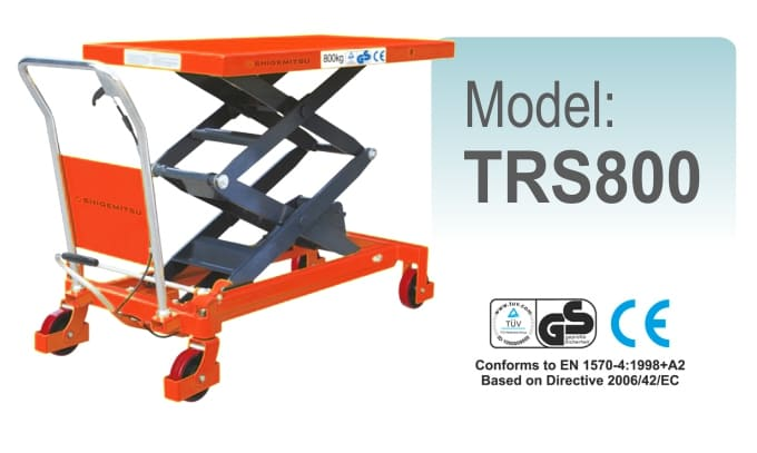 Jual Double Scissors Lift Table Specs TRS800