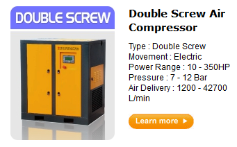 Jual kompresor double screw