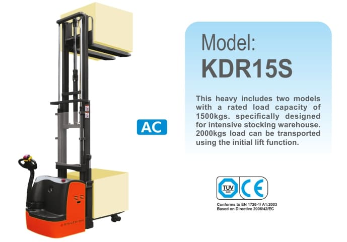 Double-Pallet Electric Stacker KDR15S