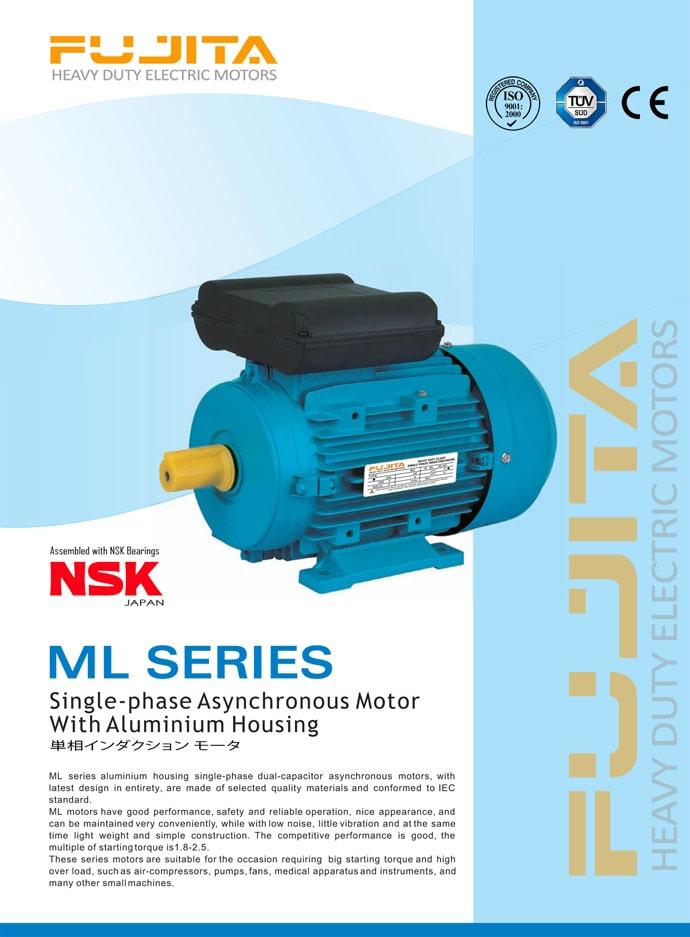 Fujita electric motor fujita ml electric motor 1 phase for Single phase motor price