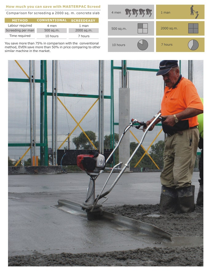 Masterpac Concrete Finsihing Screed