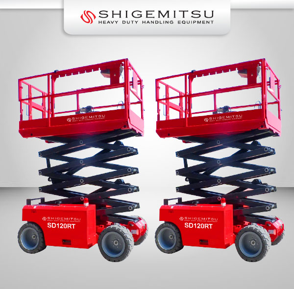 Banner Electric Self Propelled Terrain Scissor Lift