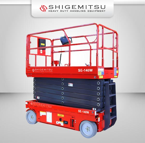 Jual Electric Self Propelled Terrain Scissor Lift