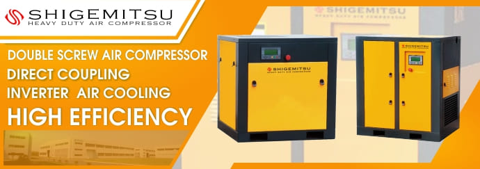 Shigemitsu Direct Coupling Inverter Double Screw Compressor