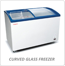 Tomori Curved Glass Freezer
