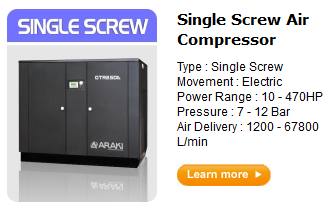 Jual kompresor single screw