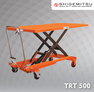 Jual Double Scissors Lift Table Specs TRT500