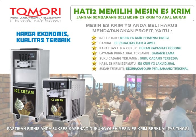 Tomori promo Ice Cream Machine