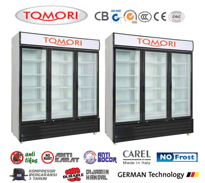 tomori display showcase cooler lgs series with no frost systems. Black Bedroom Furniture Sets. Home Design Ideas
