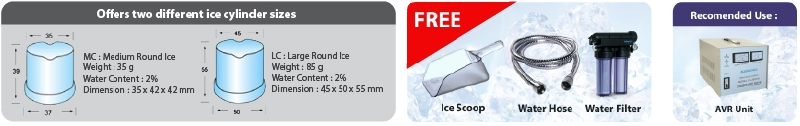 Tomori Ice Maker Accessories