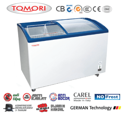 Tomori Curved Glass Deep Freezer
