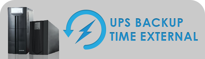 UPS BACKUP TIME EXTERNAL