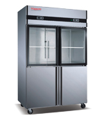 Full Stainless Steel Kitchen Refrigerator Dual Temperature