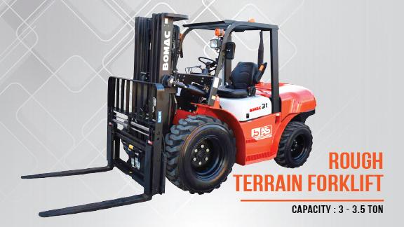 Bomac Rough Terrain Forklift