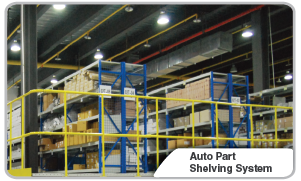 Auto Part Shelving System