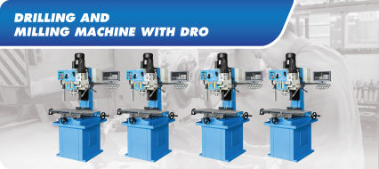 Drilling & Milling Machine With DRO