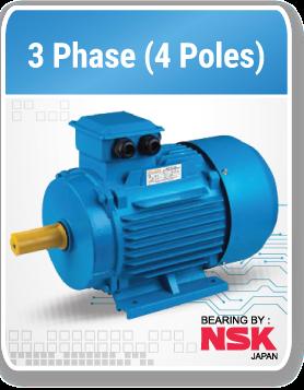 3 phase 1500 Rpm (4 Poles)