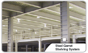 Steel Garret Shelving System