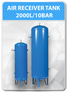 AIR RECEIVER TANK 2000L/10BAR