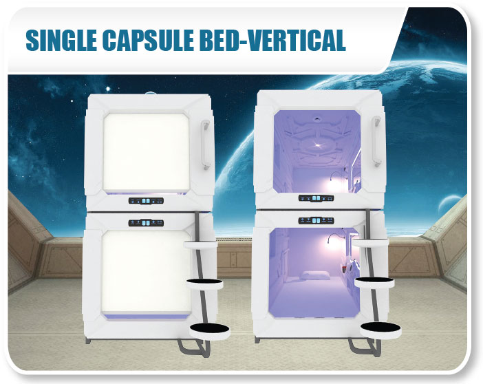 Single Capsule Bed - Vertical