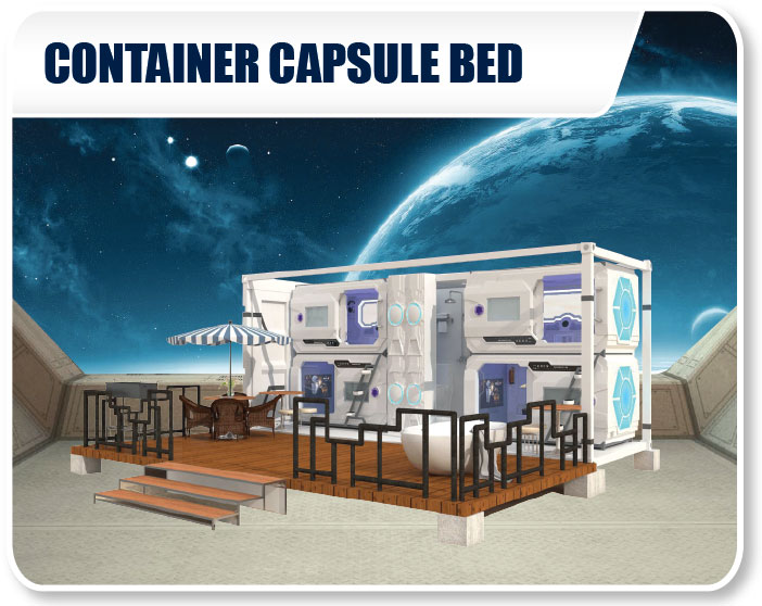 Outdoor Container Capsule Bed