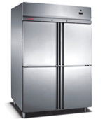 Full Stainless Steel Luxury European Style Kitchen Refrigerator