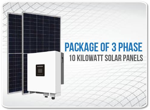 Solar Panel Package 3 Phase 10 Kilowatt