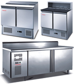 Full Stainless Steel Undercounter Freezer