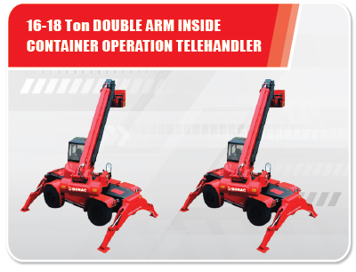 16-18 Ton Double Arm Inside Container Operation Telehandler