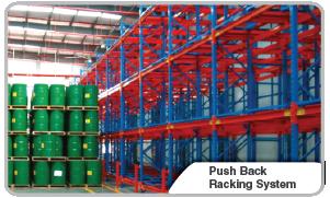 Push Back Racking System