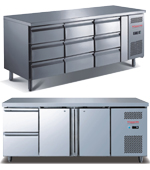 Full Stainless Steel Undercounter Freezer with Drawers