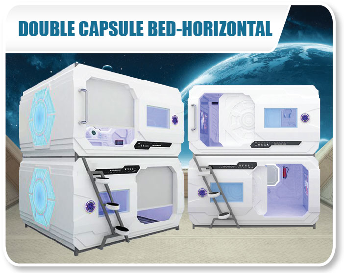 Double Capsule Bed - Horizontal