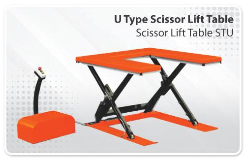 U Type Scissor Lift Table