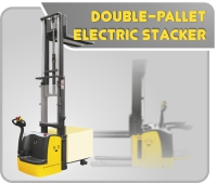 Double-Pallet Electric Stacker