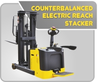 Counterbalanced Electric Reach Stacker