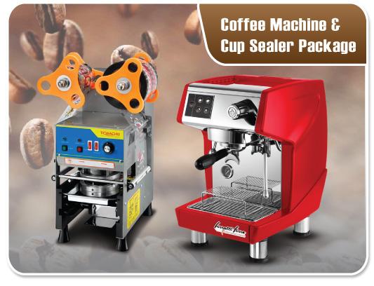 Coffee Machine & Cup Sealer Package